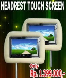 HEADREST MONITOR TOUCH SREEN