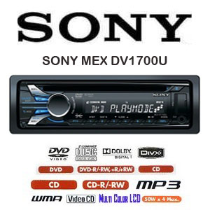 sony mex dv1700u dvd mobil player head unit dvd single. Black Bedroom Furniture Sets. Home Design Ideas