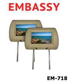 Embassy em 718t headrest monitor for Consul monitoring