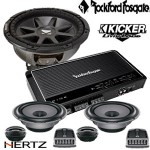 paket audio kicker dan rockford Fosgate