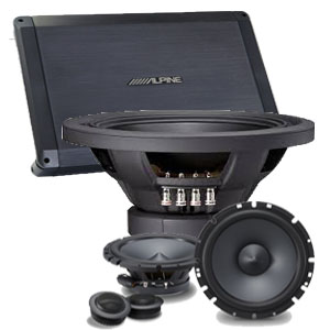 Alpine audio mobil sound sistem photo