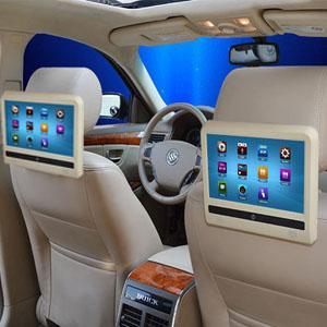 Headrest DVD mobil model tablet