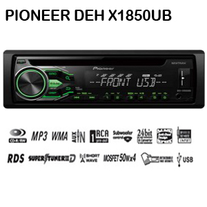 Pioneer DEX-X1850UB