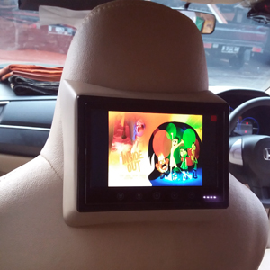 Headrest monitor mobil Mobilio, Agya
