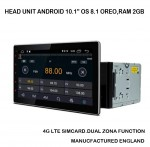 Head unit Android 10,1′ OS 8.1.RAM 2GB